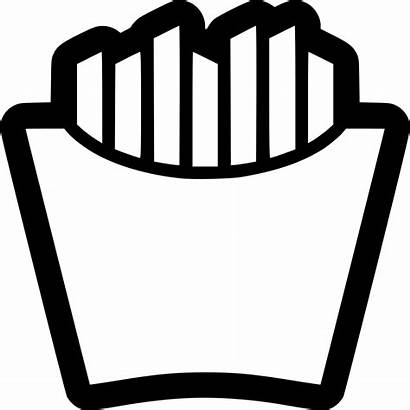 Fries Icon French Fry Fast Clipart Svg