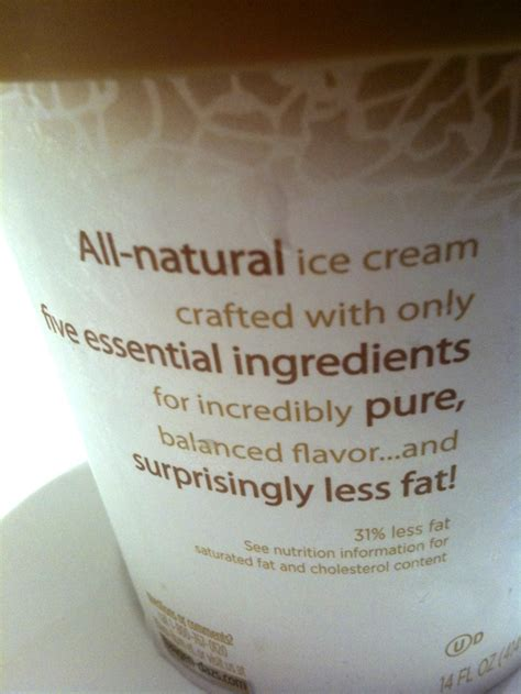But the butterfat gives it an incredibly smooth texture and consistency. Haagen Dazs Five « Brix Picks