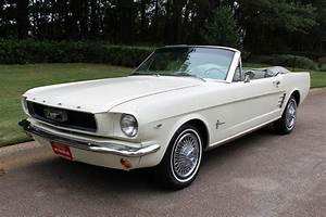 1966 MUSTANG CONVERTIBLE – WIMBLEDON WHITE WITH RARE IVY GOLD PONY | Fraser Dante