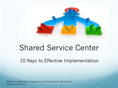 successful shared services implementation
