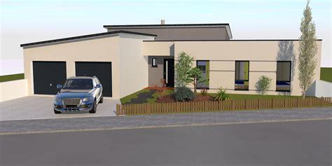 maison moderne plain pied 4 chambres maison moderne toit plat plan de maison moderne