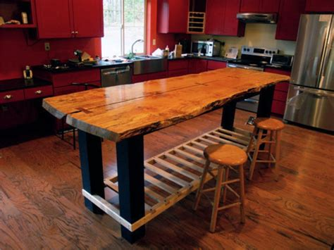 build  kitchen island butcher block hardwood table