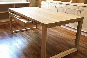 Plateau De Bureau : fabrication bureau bois sur mesure avec ~ Teatrodelosmanantiales.com Idées de Décoration