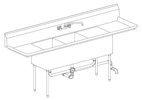 3 Compartment Sink Plumbing Diagram Periodic Tables