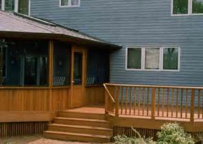 Front Porch Wood Deck Design