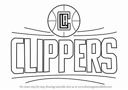 Clippers Draw Los Angeles Drawing Step Nba