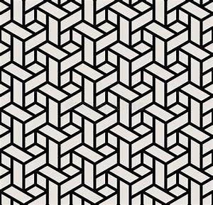 Geometric Black And White Graphic Design Print 3d Cubes ...