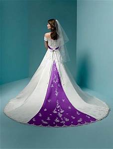 Purple wedding dress knitting gallery for Royal purple and white wedding dress