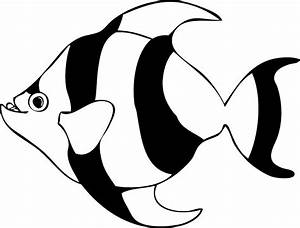 Tropical Fish Clip Art Black And White | Clipart Panda ...