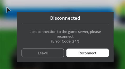 server disconnection error code  engine bugs