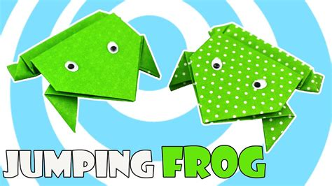 origami jumping frog easy origami tutorial youtube