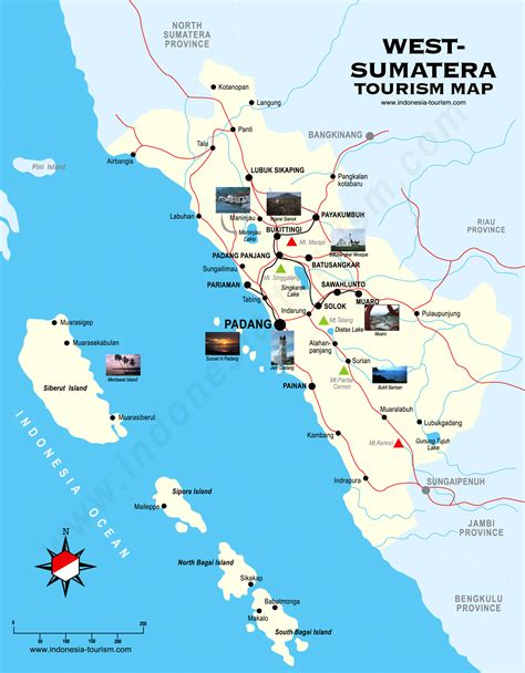 west sumatra map peta sumatera barat