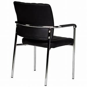 Chaise noire ultra moderne avec accoudoirs achat vente for Deco cuisine avec chaise en couleur pas cher