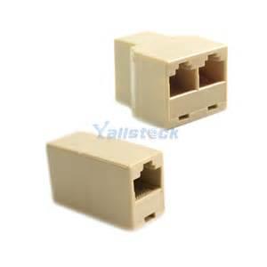 2 pcs rj45 cat 5 6 lan ethernet splitter connector adapter