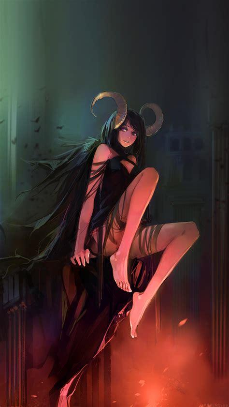 ag devil skull girl illust art papersco