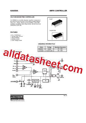 KA3525A Datasheet(PDF) - Fairchild Semiconductor
