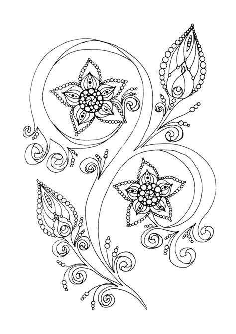 anti stress adult coloring pages inspired  flowers coloring pages  adults