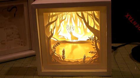 paper cut light box diy paper cut light box chezlin