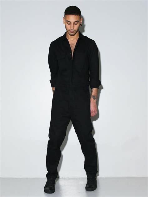 jumpsuits mens oak boiler suit black oak x y other