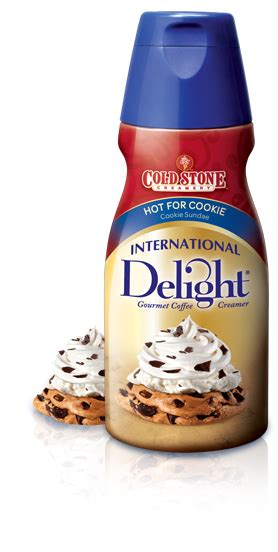 Sweet cream is the cornerstone flavor of the popular ice cream stores nationwide. International Delight Presents: Cold Stone Creamery Hot for Cookie coffee creamer (With images ...