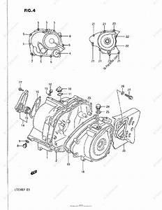 Suzuki Atv 1987 Oem Parts Diagram For Crankcase Cover