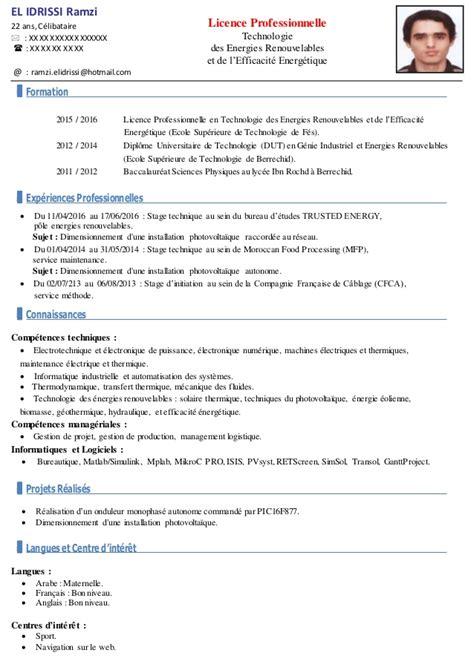 Exemples De Cv Professionnel by Exemple De Cv Professionnel