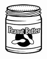 Coloring Peanut Butter sketch template