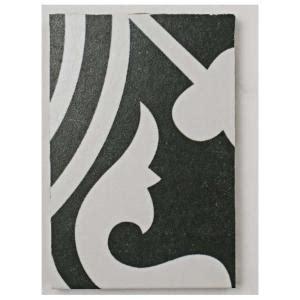 merola tile arte black encaustic porcelain floor  wall
