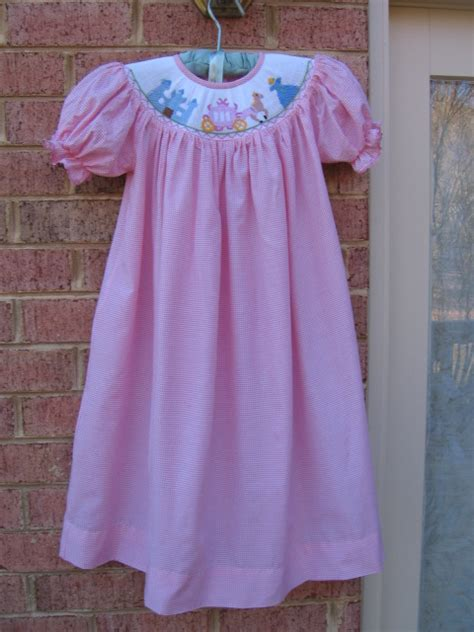 girls pink smocked  disney cinderella princess carriage