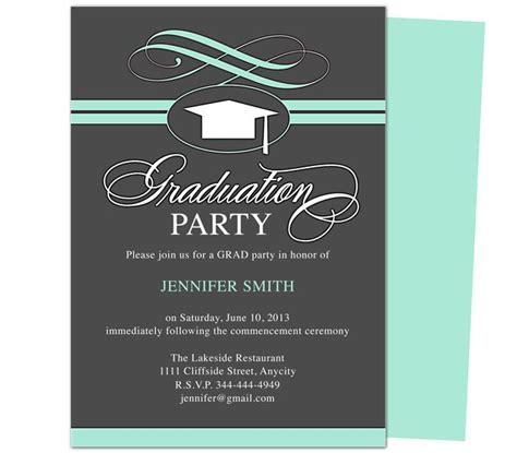 graduation party invitation templates swirl graduation