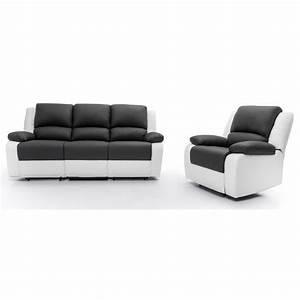 Relax ensemble canape relaxation 3 places fauteuil for Canape 3 places et fauteuil