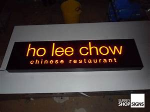 illuminated shop signs for businesses surrey shop signs With ho ho ho lighted letters