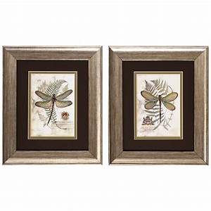 August grove dragonfly i and ii framed painting print