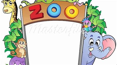 cartoon zoo animal drawings coloring wall