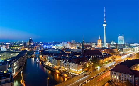 Wallpaper Hd Berlin At Night Germany 1800x2880
