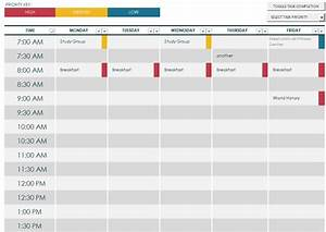 Weekly Schedule Maker  U2013 Task List Templates
