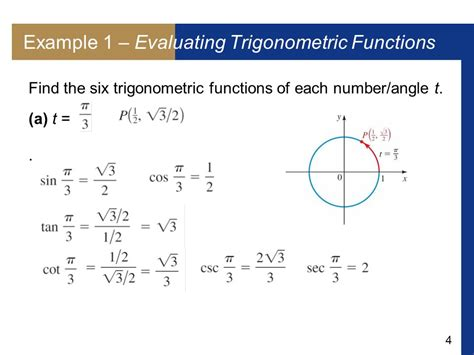 Trigonometric Functions Of Real Numbers  Ppt Video Online Download