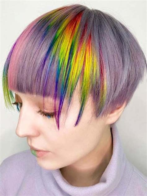 Amazing Rainbow Short Pixie Haircuts For