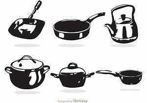 Black And White Cooking Pan Vectors - Download Free Vector ...