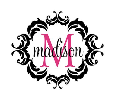 create monogram initials items similar to name and initial vinyl wall decal shabby