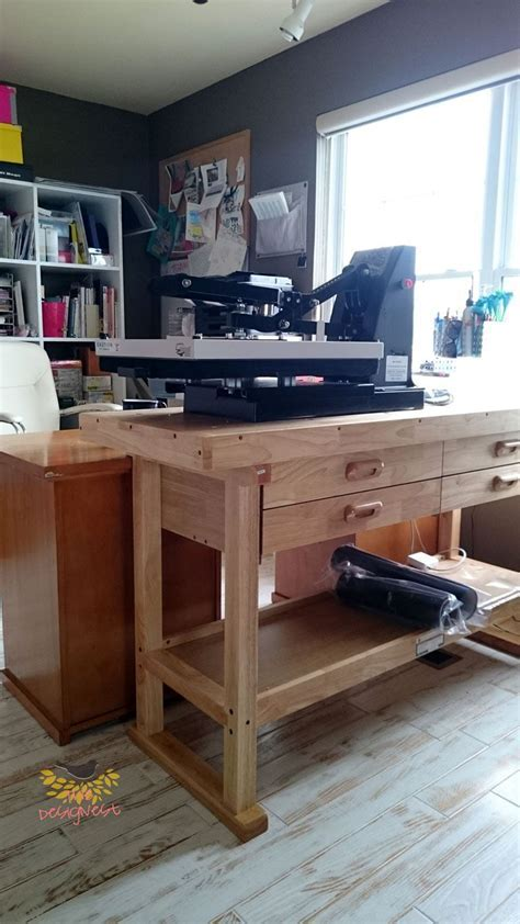 This workbench is great to put a heat press on.   THE