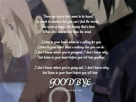listen   heart     goodbye bye