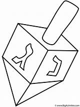 Coloring Dreidel Hanukkah Happy Dreidels Activity Pages Bigactivities sketch template