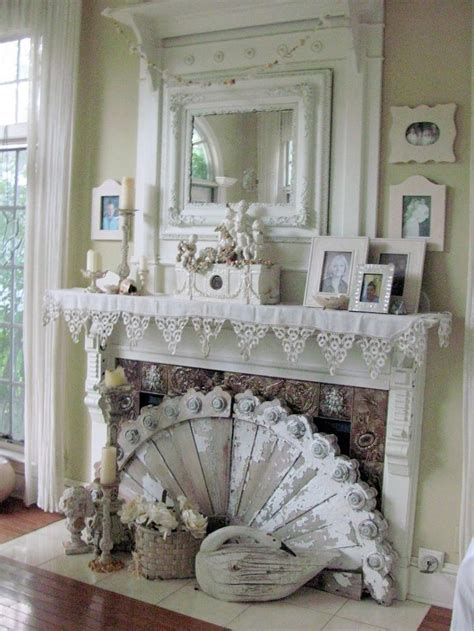 cottage chic best 25 shabby chic fireplace ideas on shabby