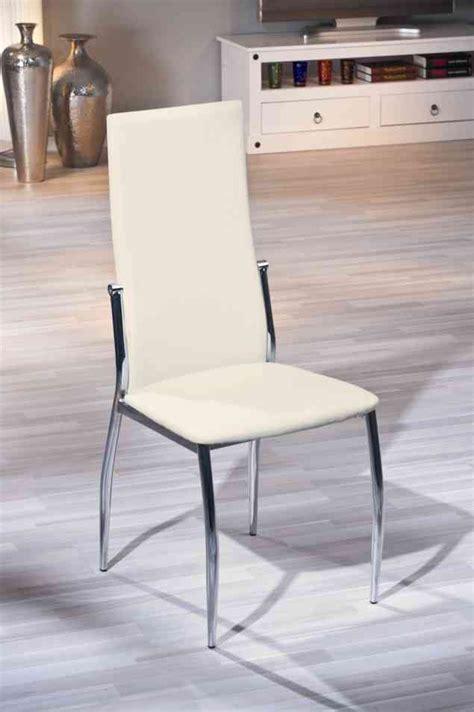 chaises pour salle à manger chaise de salle à manger design coloris écru dallas