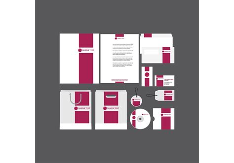 Bold Pink Company Profile Template-download Free Vector