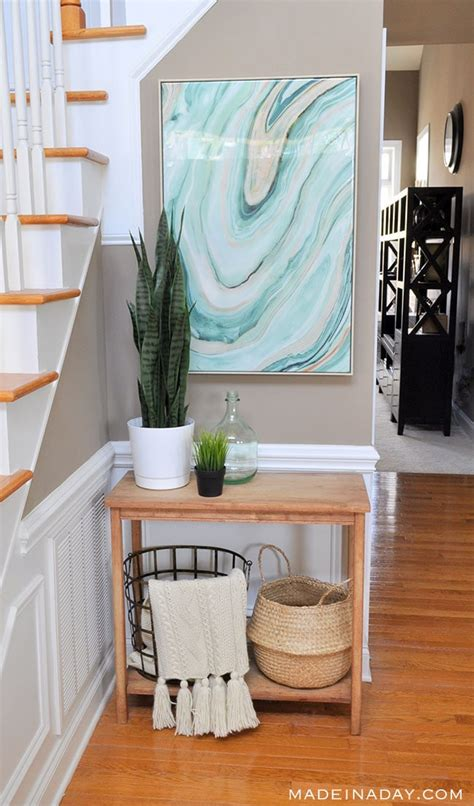 fresh entryway makeover  silk plants    day