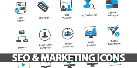 seo and web marketing seo icons marketing icons icons graphic