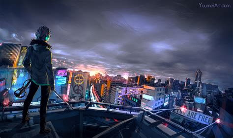 cyberpunk cityscape hd artist  wallpapers images