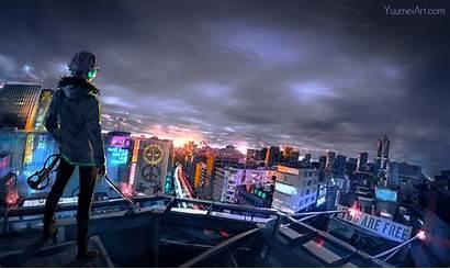 Cyberpunk Cityscape Wallpapers Anime Digital Artist 4k